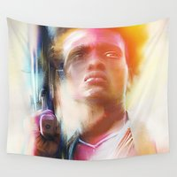winter soldier Wall Tapestries featuring Village Soldier by Psychedelic Astronaut