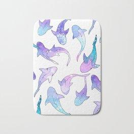 Galaxy Shark Print Bath Mat