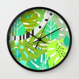 Green quiet jungle Wall Clock