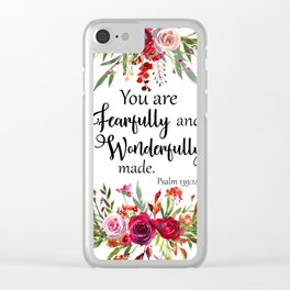 You are Fearfully and Wonderfully made Clear iPhone Case