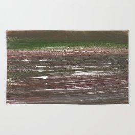 Dark liver abstract watercolor Rug