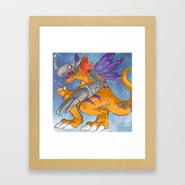 Metal Greymon Framed Art Print