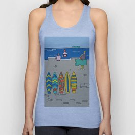 Afternoon at the beach (b) Unisex Tank Top