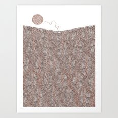 Knitting experience Art Print