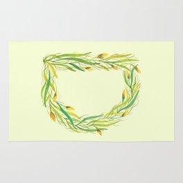 Leafy Letter D Rug