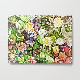 Scattered Blooms And Verdure Metal Print