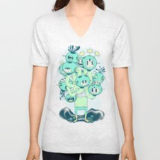 Many Heads are Better than None Unisex V-Neck
