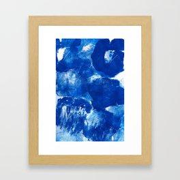 Bold Cerulean Framed Art Print