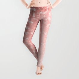 She Sparkles Deep Rose Gold Pastel Pink Luxe Geometric Leggings
