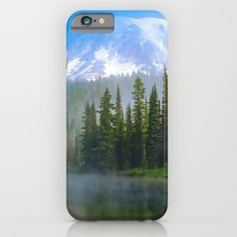 Misty Morning Mountain iPhone Case