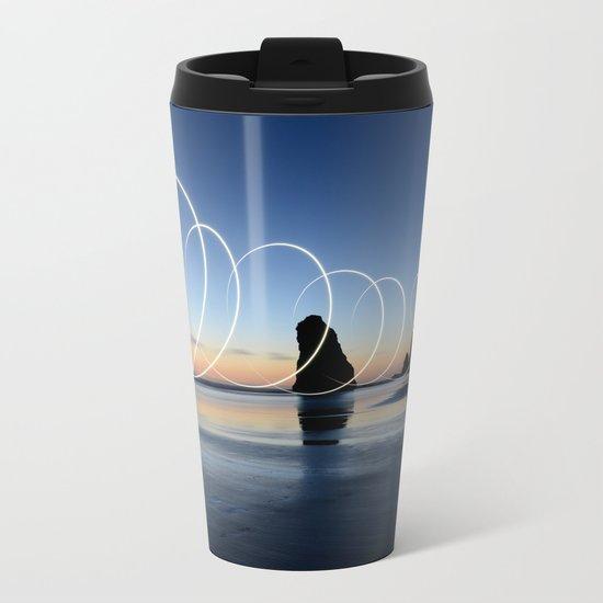 Ocean light rays Metal Travel Mug