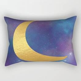 Golden Moon Rectangular Pillow