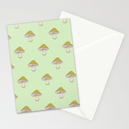 Capped Fellow pattern in green Stationery Cards
