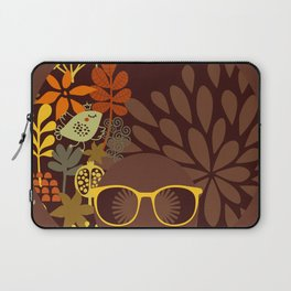 Afro Diva : Sophisticated Lady Retro Brown Laptop Sleeve