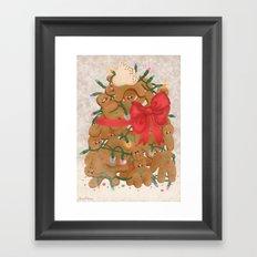 Merry Christmas from Gingerbread Men Framed Art Print