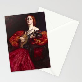 A Lute Player by Edwin Austin Abbey Stationery Cards
