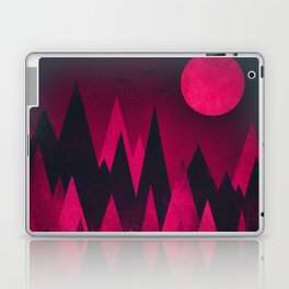 Dark Triangles (Peak Woods) Abstract Grunge Mountains Design (red/black) Laptop & iPad Skin