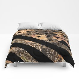 Hunting Camouflage Flag 3 Comforters