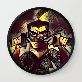 Samurai Jack Zentangle Wall Clock