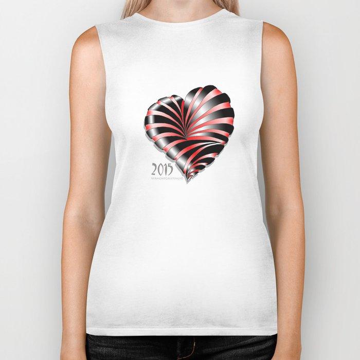 Forever love Valentine Illustration Biker Tank