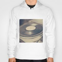 vinyl Hoodies featuring Vinyl  by Caroline Mint