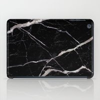 geology iPad Cases featuring Black Marble by Santo Sagese