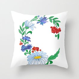 Frame from flowers Throw Pillow