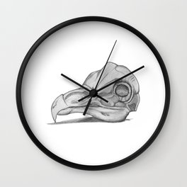 Barn Owl Skull Wall Clock