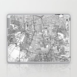 Santiago White Map Laptop & iPad Skin
