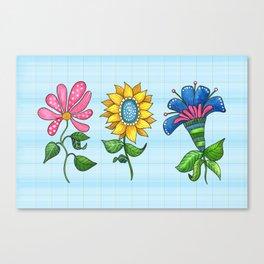 Three Dancing Flowers Canvas Print