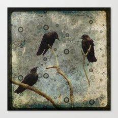 Crow Pop Canvas Print