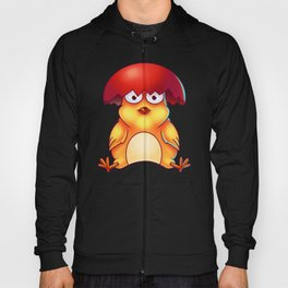 Easter Chicken with Egg Shell on its Head - Digital Painting Hoody