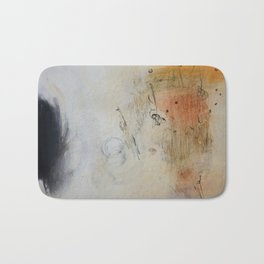 White Abstract Painting  Bath Mat