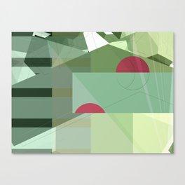 Geometric abstract green No. 1 Canvas Print