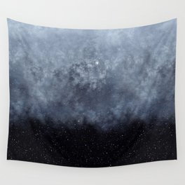 Blue veiled moon II Wall Tapestry