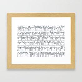 Citylines B/W Framed Art Print
