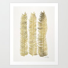 Golden Seaweed Art Print