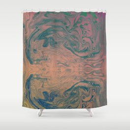Pink Neon Marble - Earth Gum #nature #planet #marble Shower Curtain