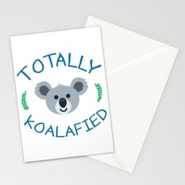 Totally koalafied - Funny Quote Stationery Cards
