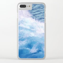 Wild waves Clear iPhone Case
