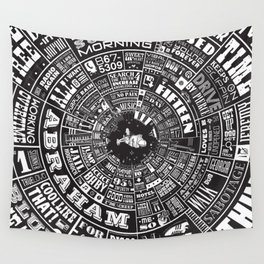 MUSICAL TYPE WHEEL Wall Tapestry