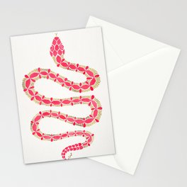 Pink & Gold Serpent Stationery Cards