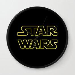 Star Logo Wars Wall Clock