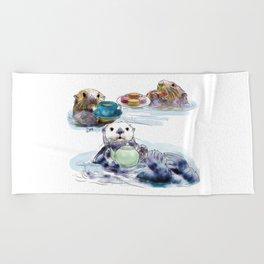 The Otter's Tea Beach Towel