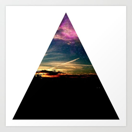 roadtrip triangle Art Print