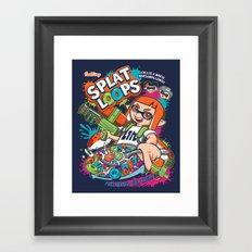 Splat Loops Framed Art Print