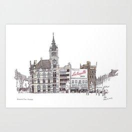 Librairie Moliere, Charleroi Art Print