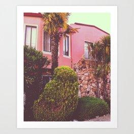 Avila Street: Marina Pink House Art Print