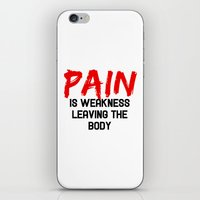 pain iPhone & iPod Skins featuring Pain by Spooky Dooky