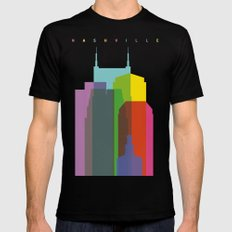 Shapes of Nashville Black Mens Fitted Tee MEDIUM